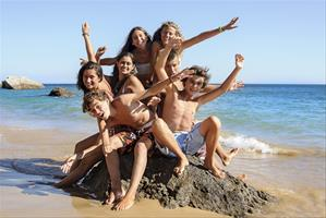 Vacances pour tous - colonies de vacances  - Sausset-les-Pins - Speak English on the beach